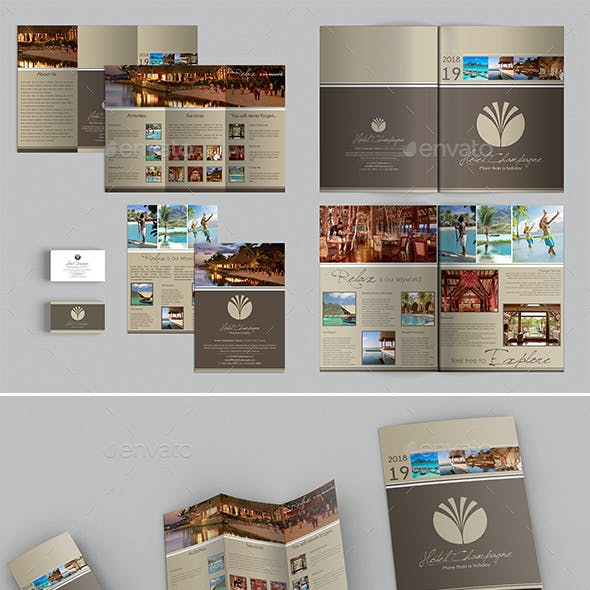 A3 + A4 Trifold Brochure + Business Card
