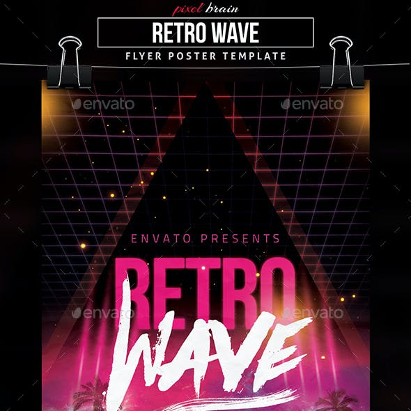 Retro Wave Flyer Template