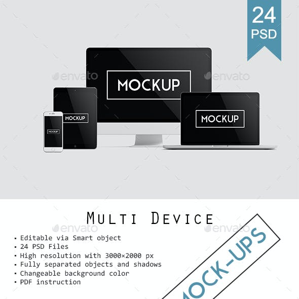 Multi Devices Responsive Website Mockup Vol. 2