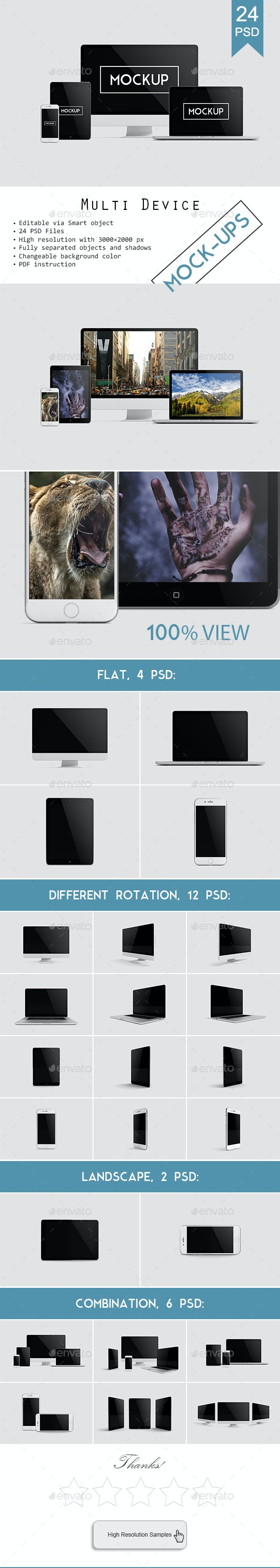 Multi Devices Responsive Website Mockup Vol. 2 - Multiple Displays