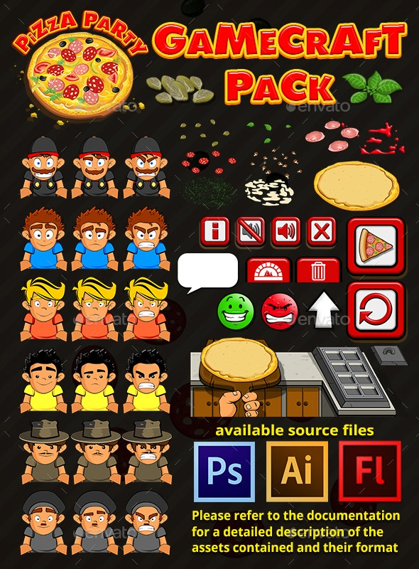 Pizza Party - Game Assets - Game Kits Game Assets