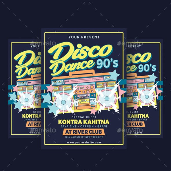 Disco Dance 90's Party