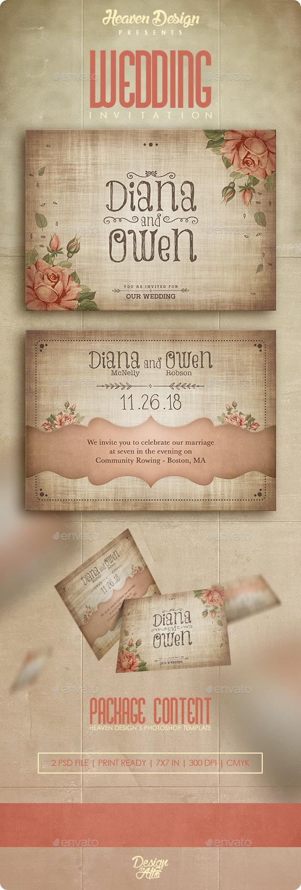 Wedding Roses | Invitation - Weddings Cards & Invites