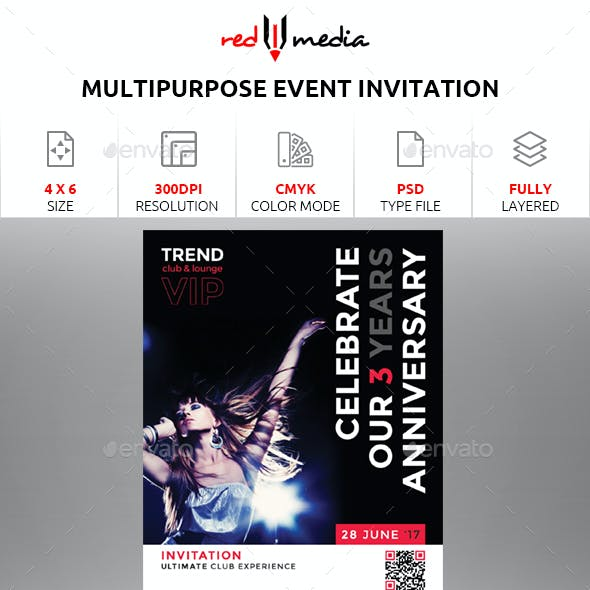 Multipurpose Event Invitation