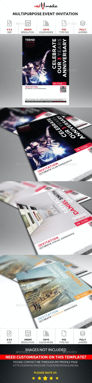 Multipurpose Event Invitation - Invitations Cards & Invites