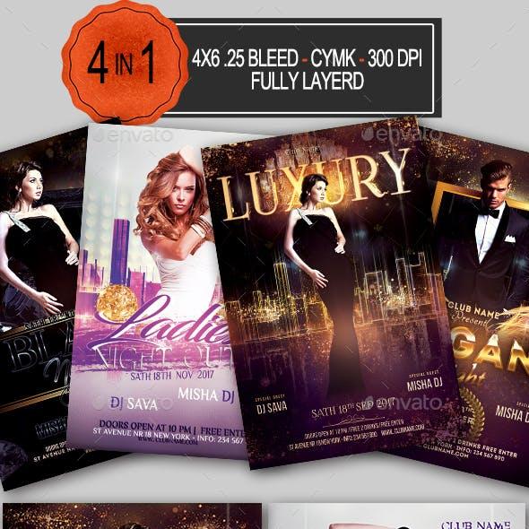 Elegant Party Flyer Bundle