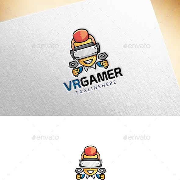 VR Gamer Logo Template