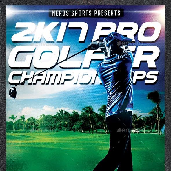 Golf Cup 2K17 Tournament Sports Flyer