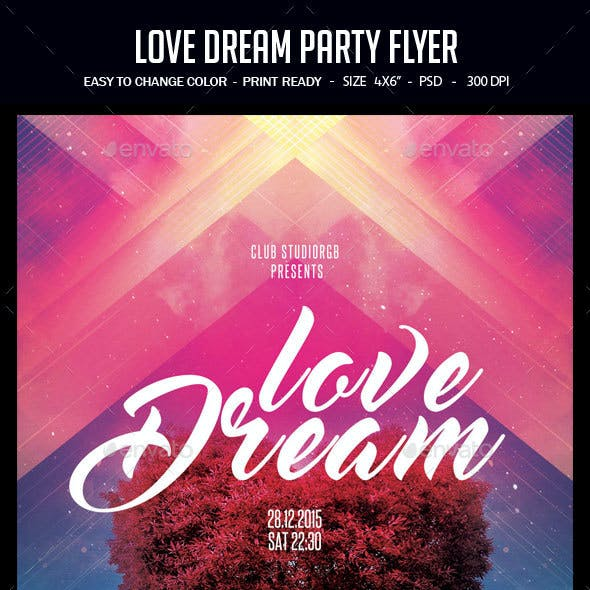 Love Dream Party Flyer