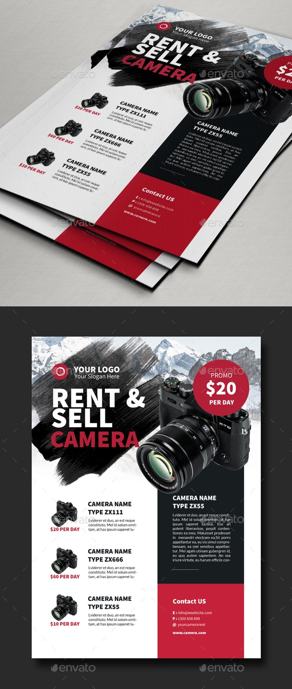Rent & Sell Camera Flyer Template