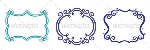 Curly Frame Set - Borders Decorative
