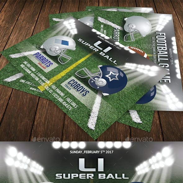 Football Game Flyer Template 56