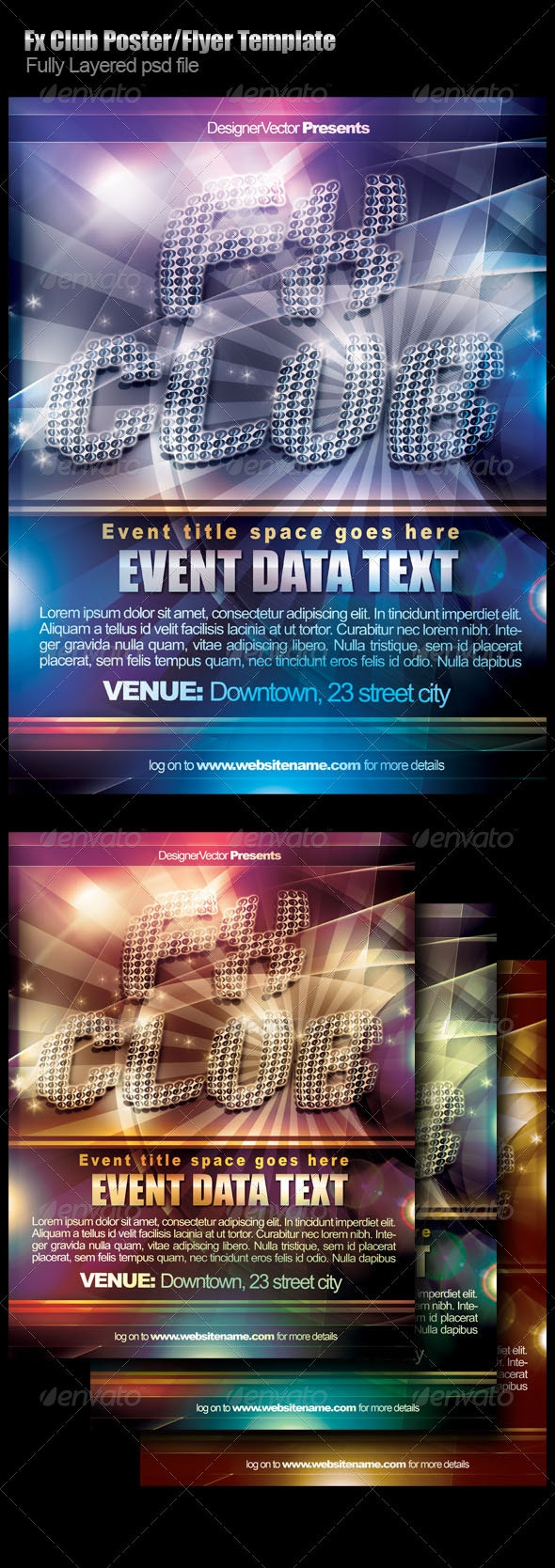 Fx Club Flyer/Poster Template - Clubs & Parties Events