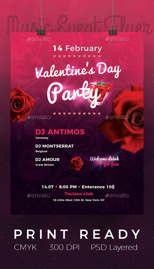 Bright Valentine Day Flyer - Events Flyers