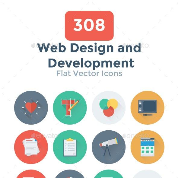 308 Web Design and Development Icons