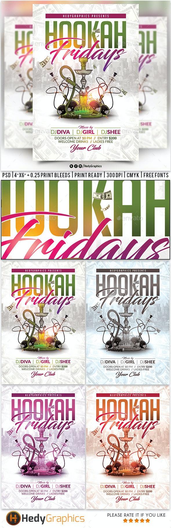 Hookah Fridays Flyer - Clubs & Parties Events