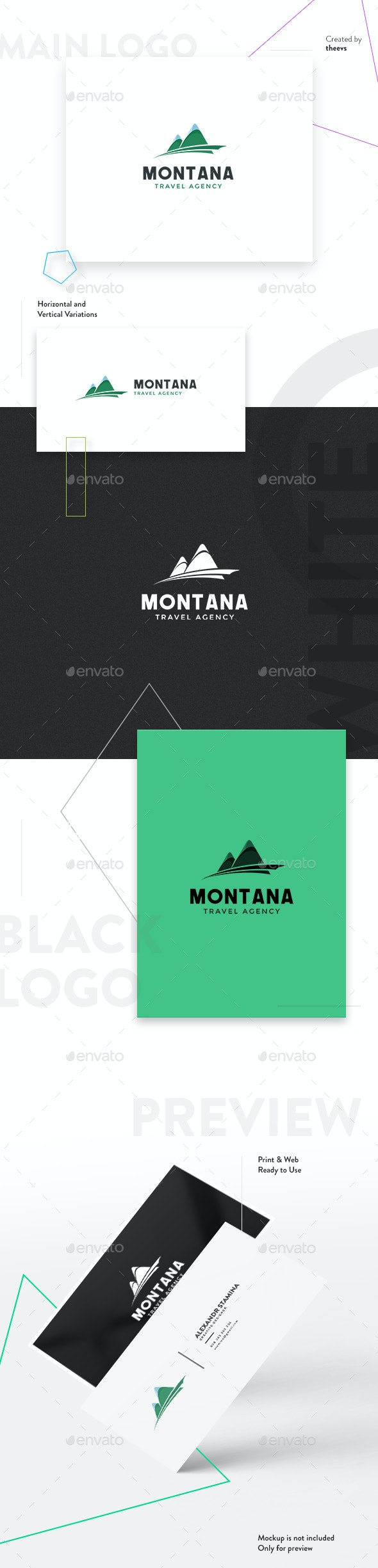Montana Logo - Nature Logo Templates