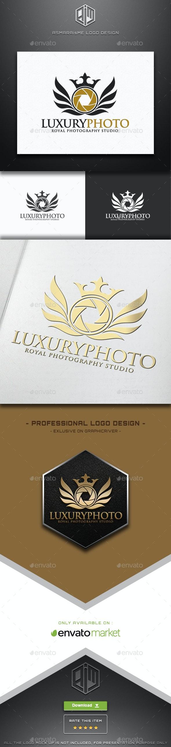 Camera Logo - Luxury Photo - Royal Photography Studio - Crests Logo Templates