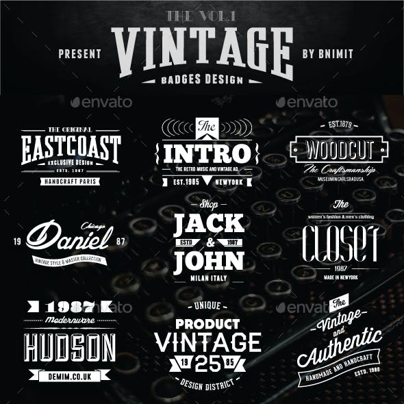 Vintage Badges Vol.1