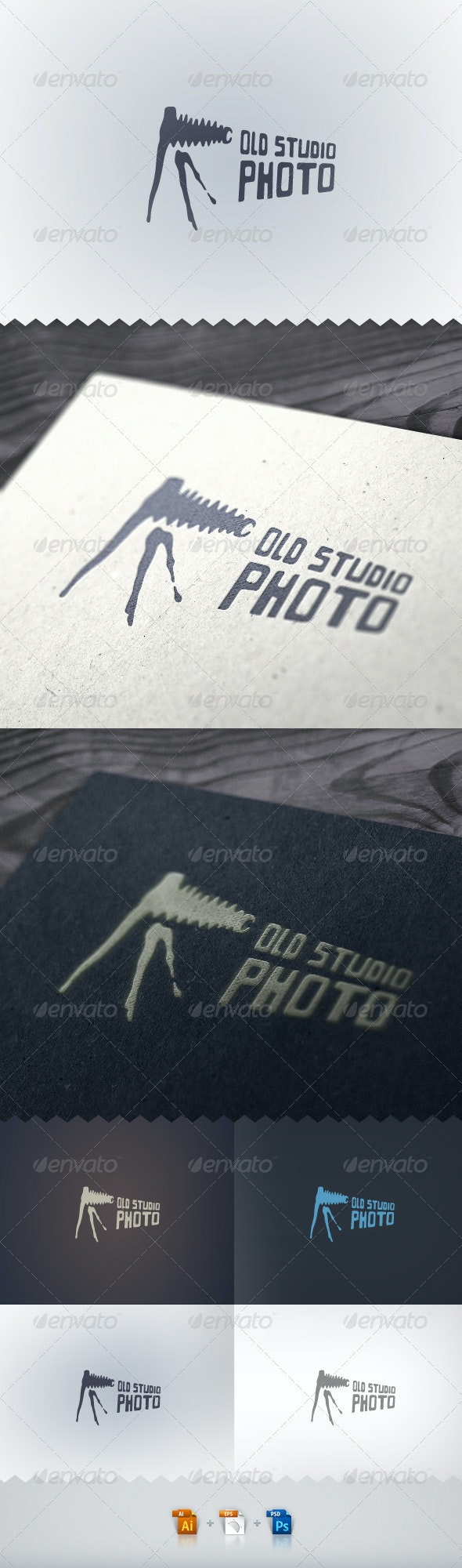 Old Studio Photo Logo - Objects Logo Templates