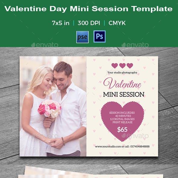 Valentine Day Mini Session Card-V07