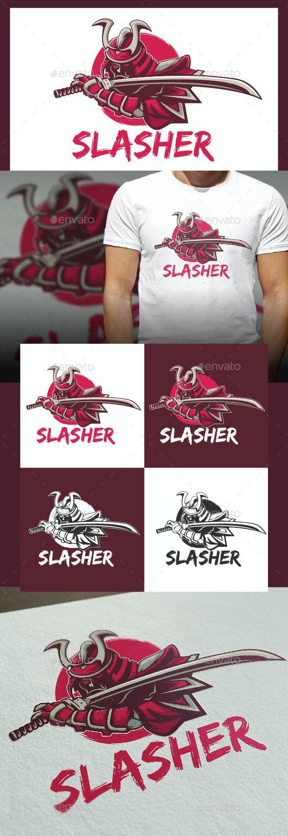 Slasher Logo Template - Humans Logo Templates