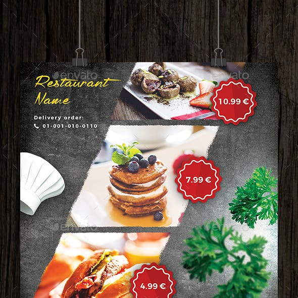 Restaurant and Cafe Offer Flyer
