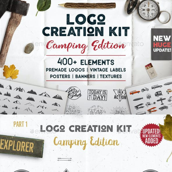 Logo Creation Kit - Camping Edition