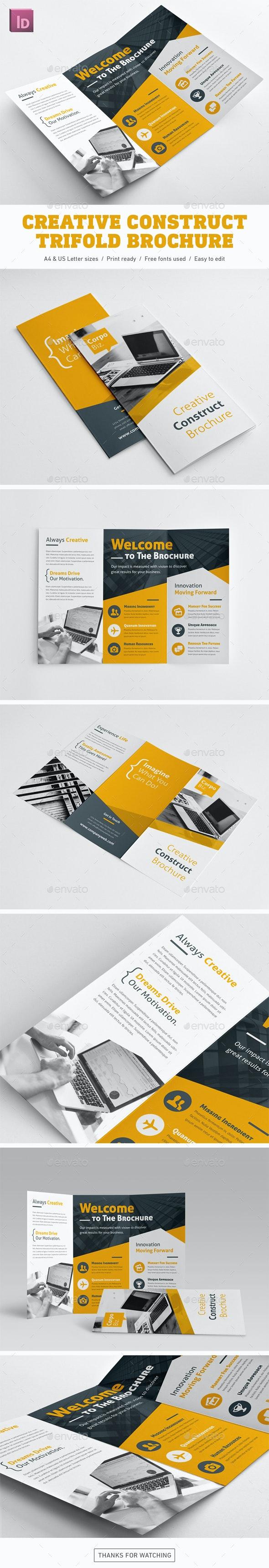 Creative Construct Trifold Brochure - Corporate Brochures