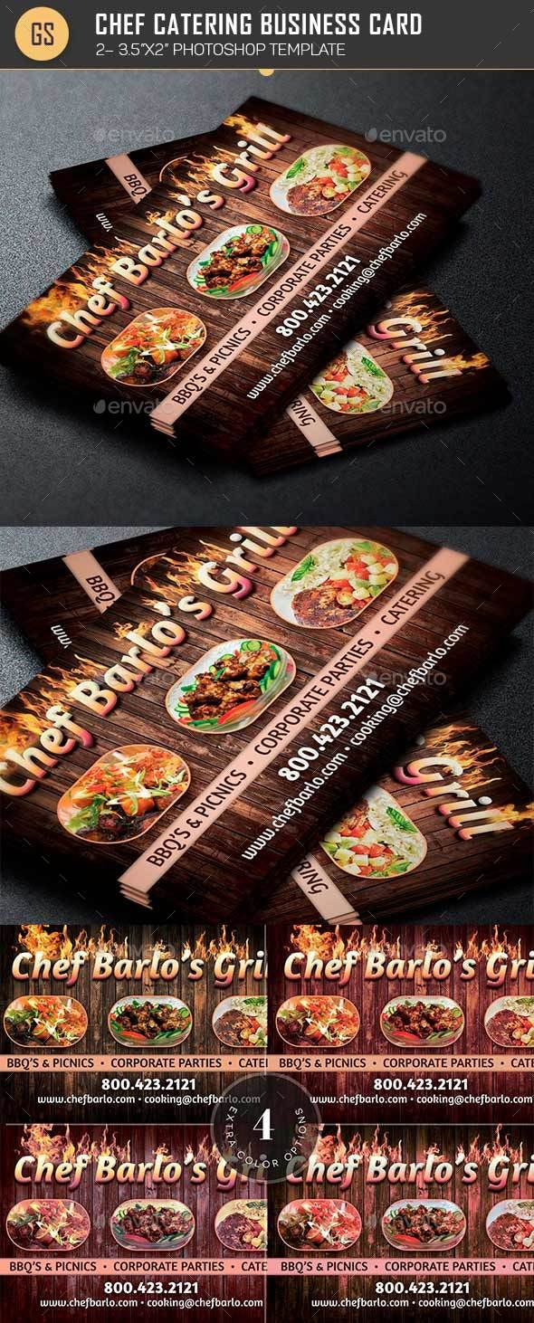 Chef Catering Business Card Template - Industry Specific Business Cards