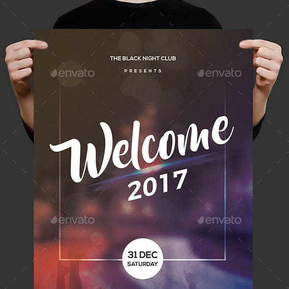 Welcome 2017 Party Flyer