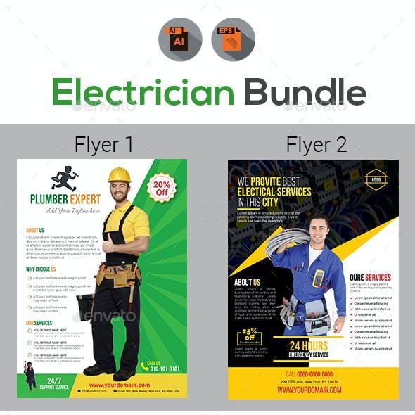 Handyman & Plumber Services Flyer Bundle