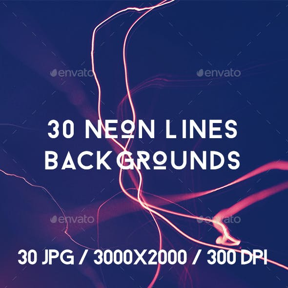 30 Neon Lines Backgrounds