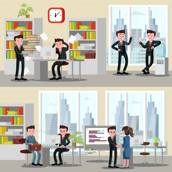Office People Horizontal Banners - Backgrounds Business