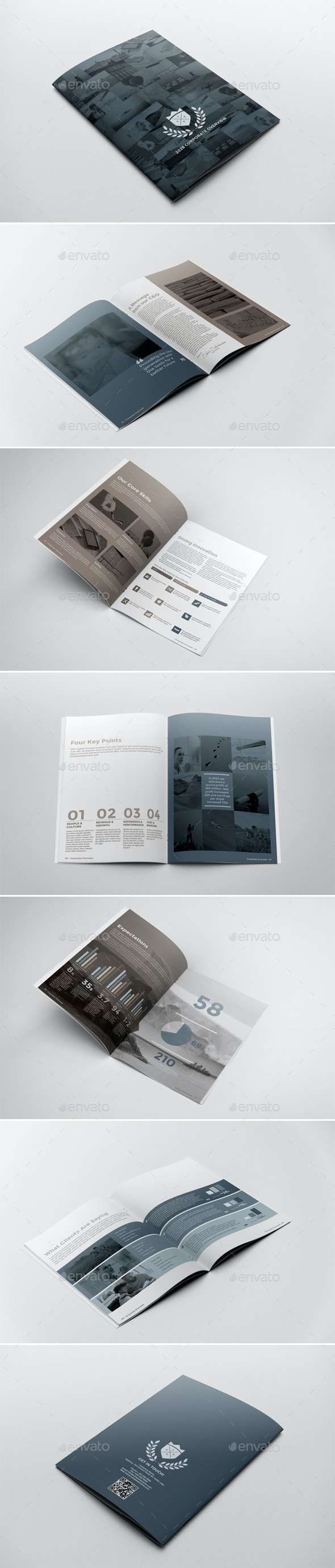 Corporate Brochure Report Template - Brochures Print Templates