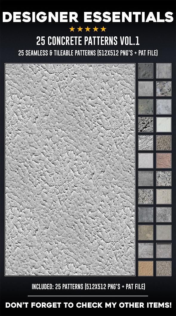 25 Tileable / Seamless Concrete Patterns