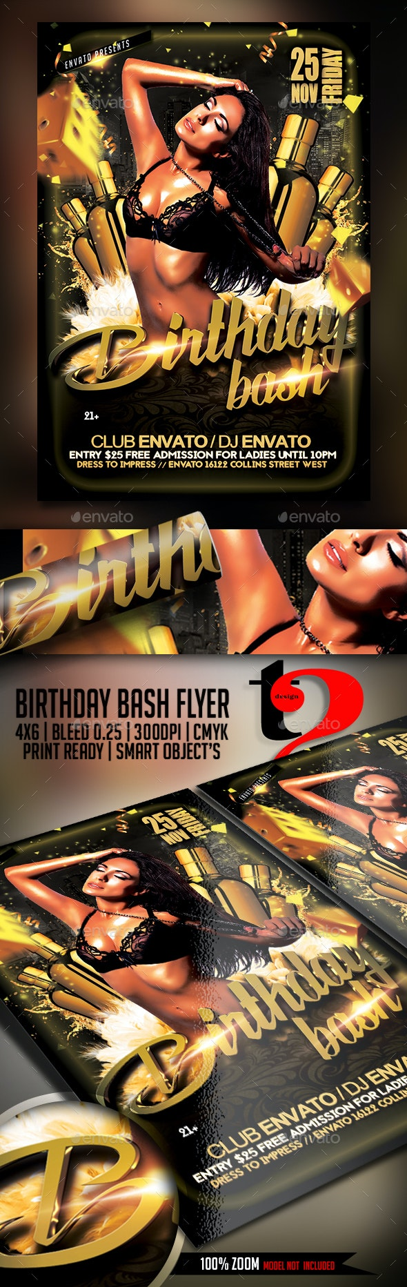 Birthday Bash Flyer - Template - Clubs & Parties Events
