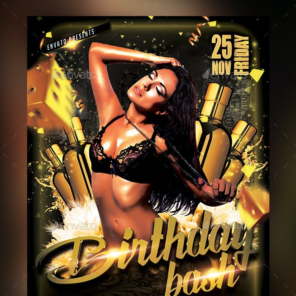 Birthday Bash Flyer - Template