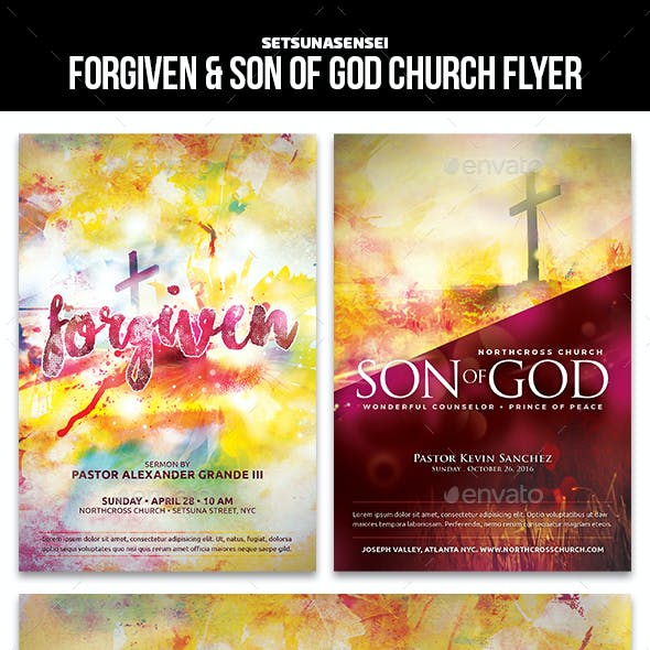 Forgiven & Son of God Church Flyer