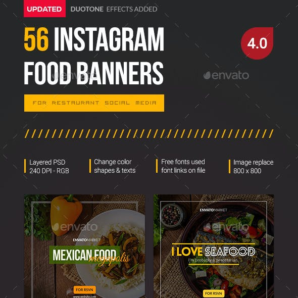Instagram 56 Food Banners