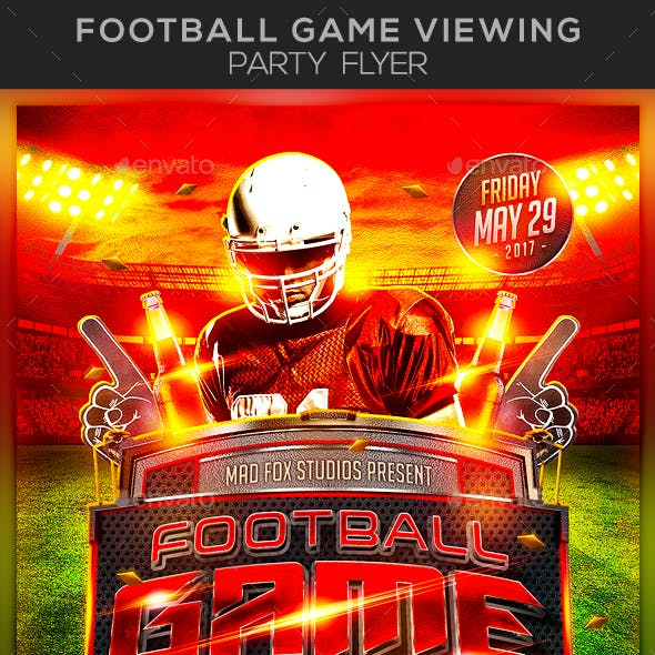 Football Game Viewing Party Flyer