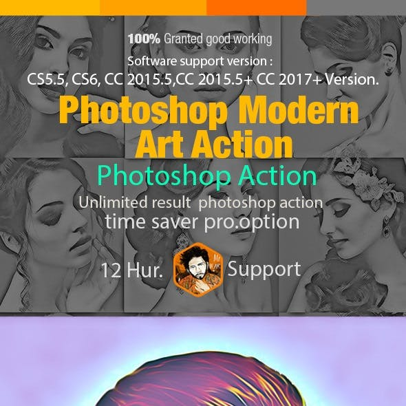 Photoshop Modern Art Action
