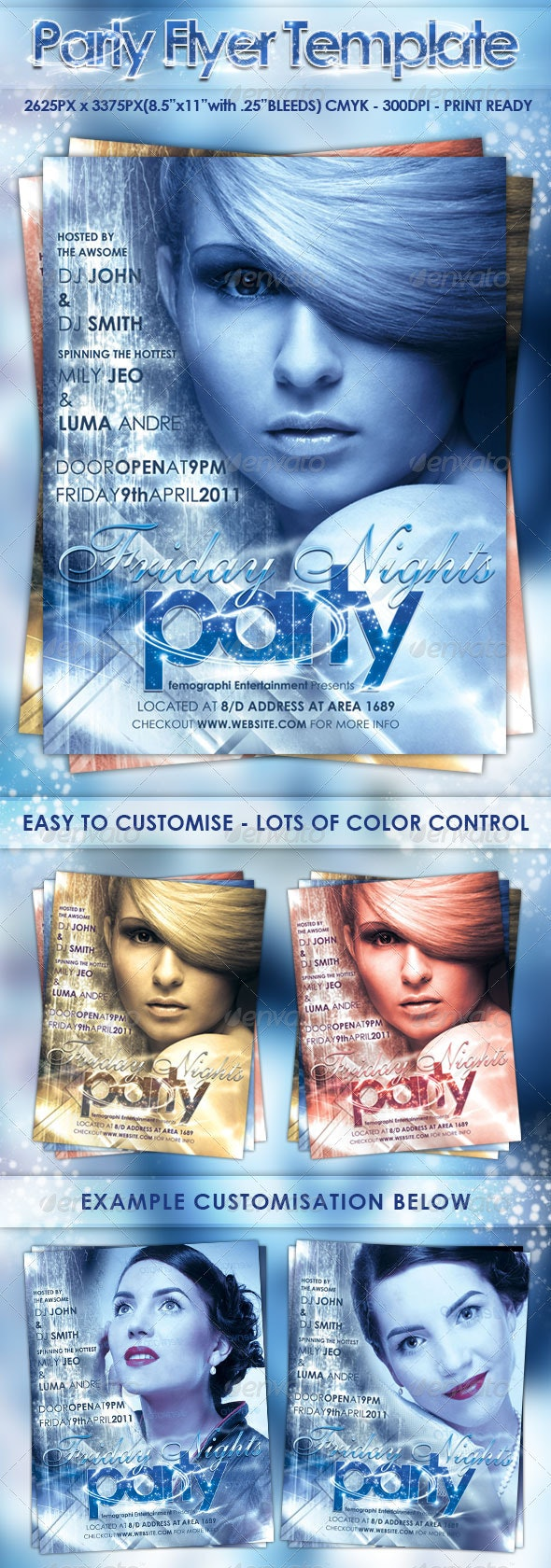 Party Flyer Template - Clubs & Parties Events