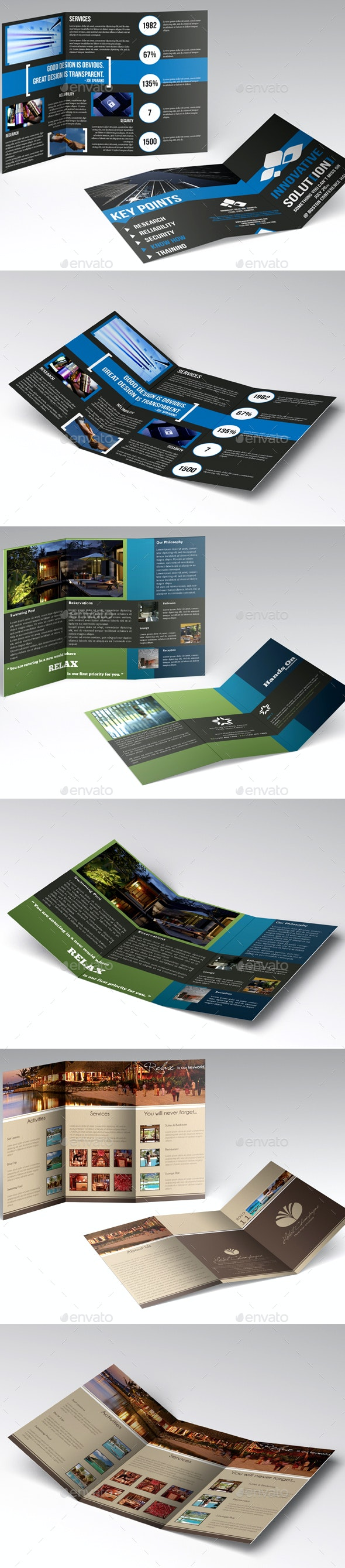 Trifold Brochures Bundle - Corporate Brochures