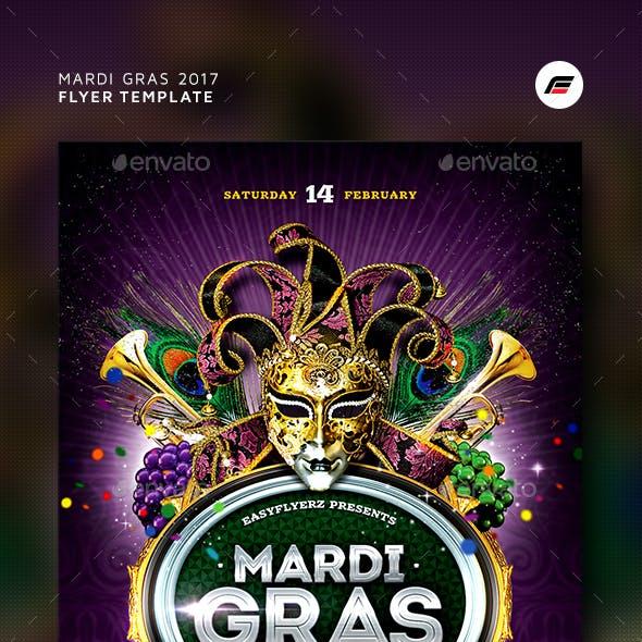 Mardi Gras 2017 Flyer Template