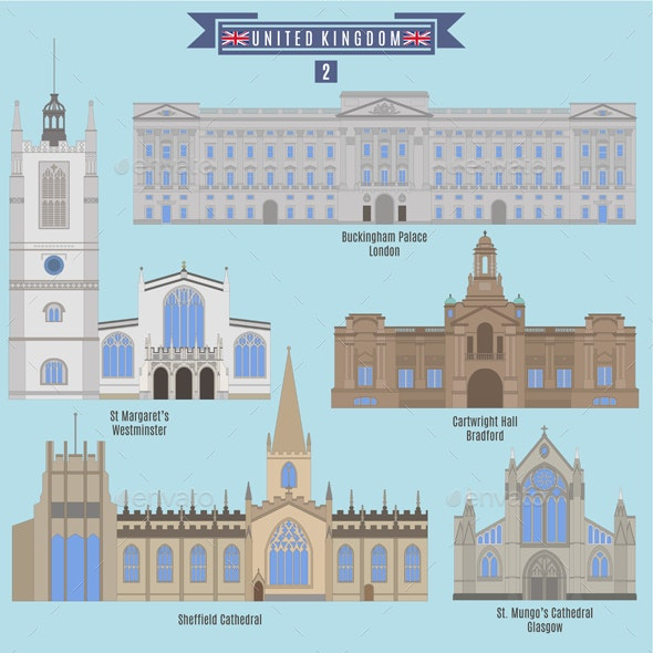 Famous Places in United Kingdom - Buildings Objects