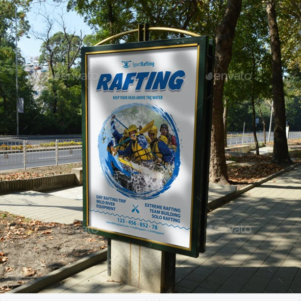 Rafting Club Team Poster Template 28