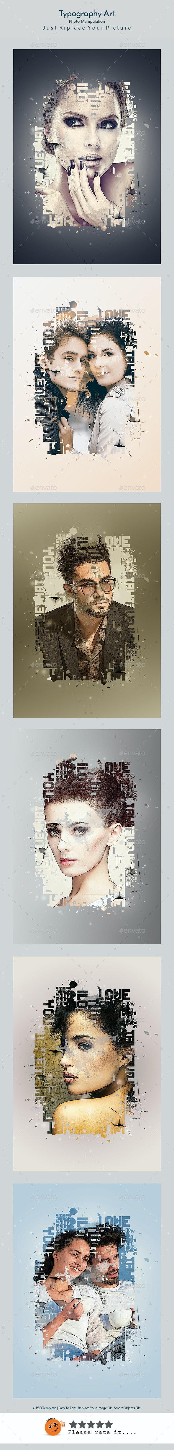 Typography Art - Artistic Photo Templates