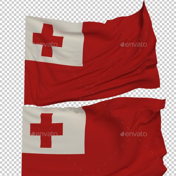 Flag of Tonga - 3 Variants