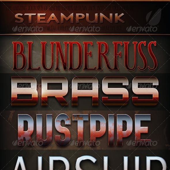 Steampunk & Vintage Text Effects